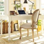 Carved White Wood Desk
