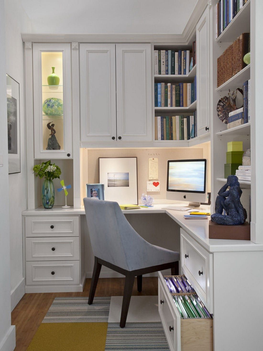 Corner Desk With Shelves For Small Home Office
