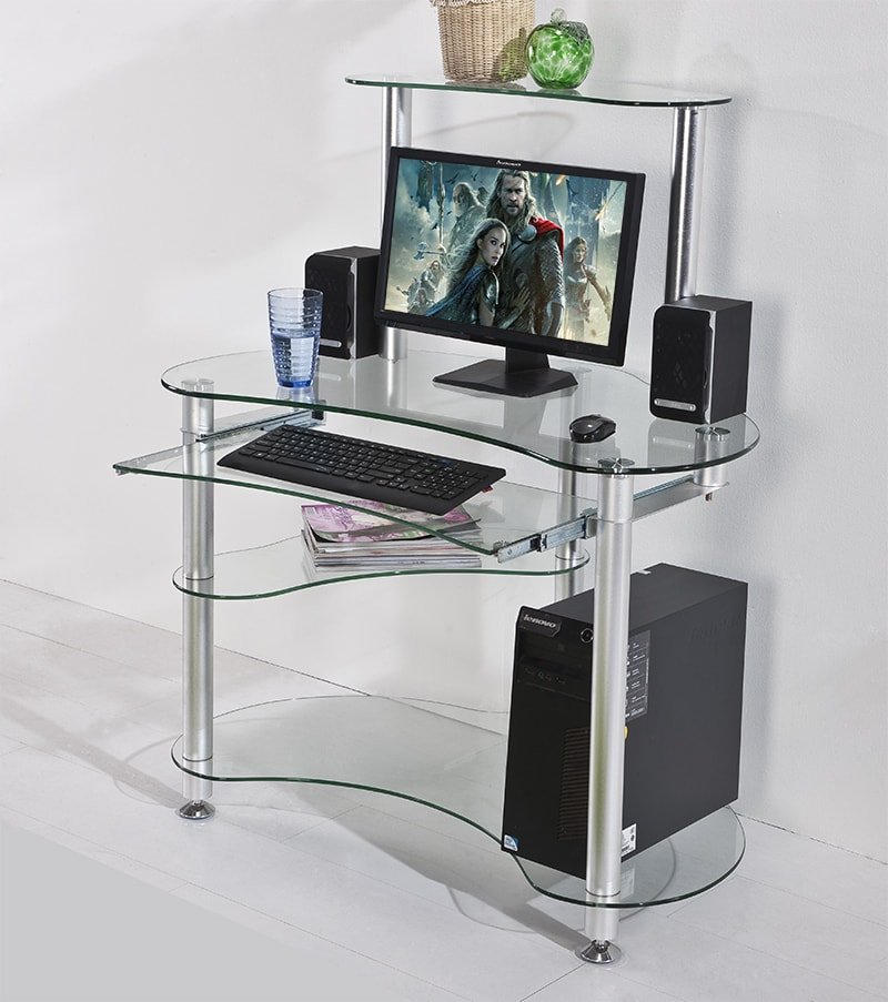 Small Computer Table Glass