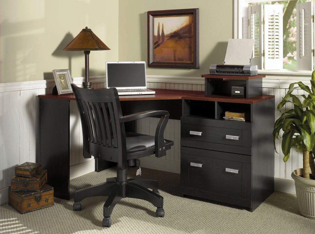 Black Corner Desk Office