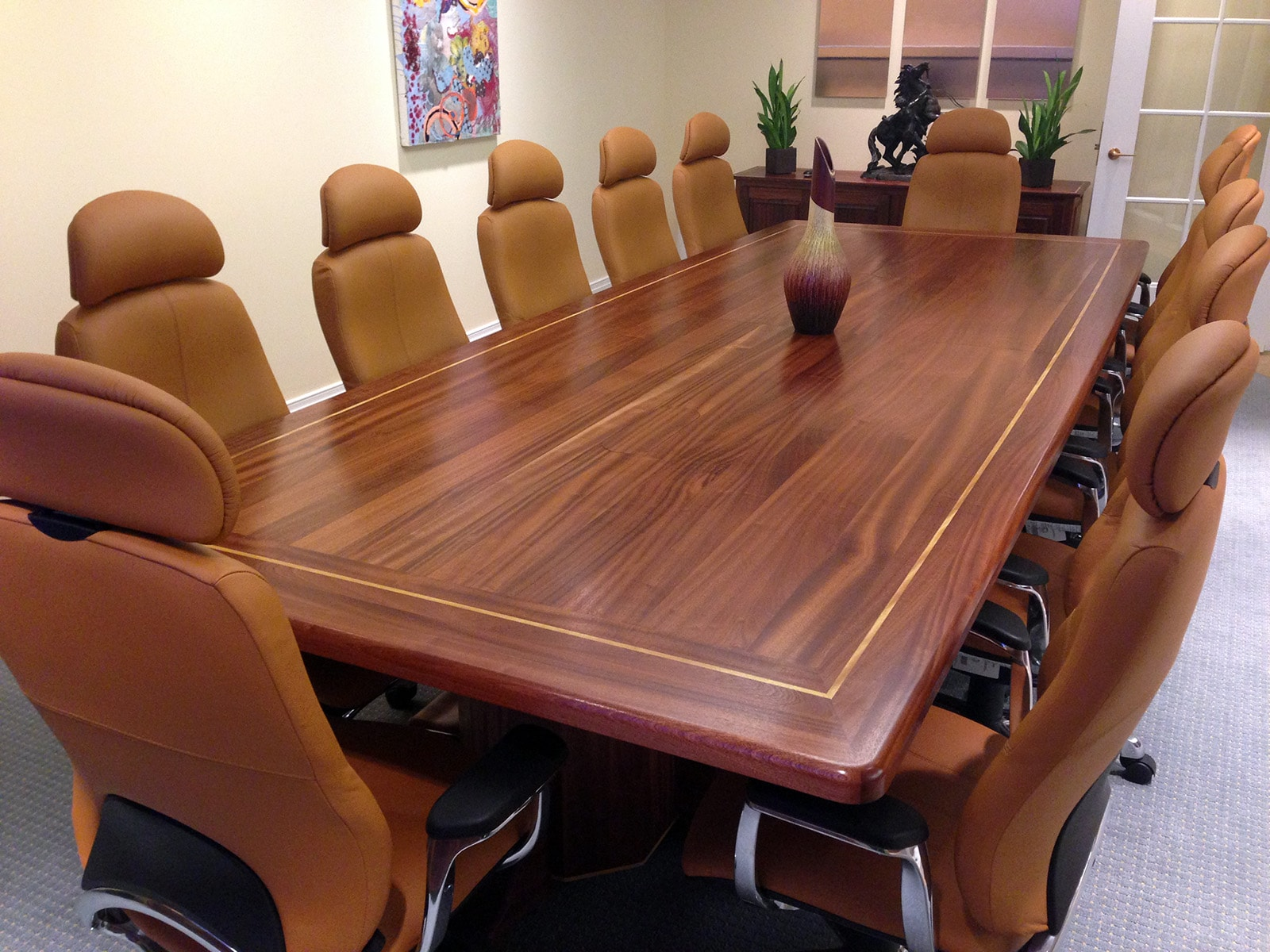Elegant Wood Conference Table