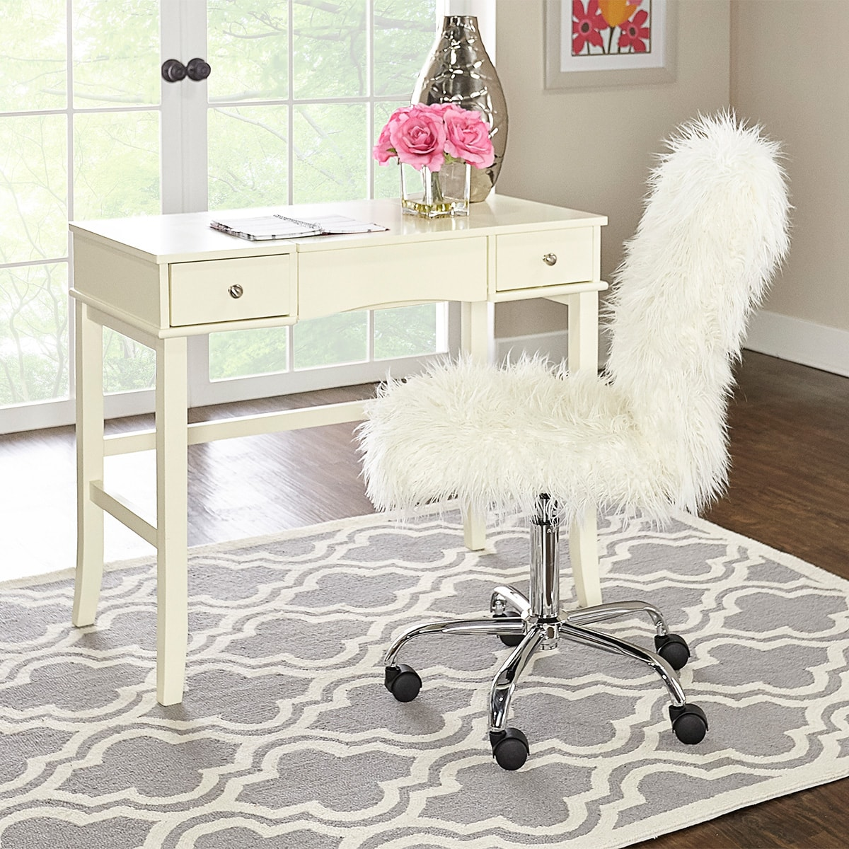 Fluffy Armless Office Chairs