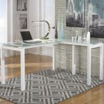 Glass Office L-Shaped Desk