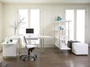 L Shaped Office Desk White