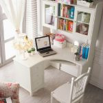 White Corner Office Desk For Home Office