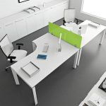 White Small Office Table