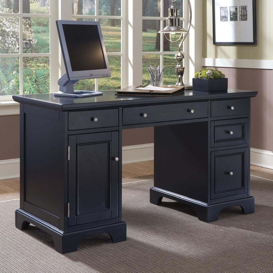 Elegant Black Computer Desk
