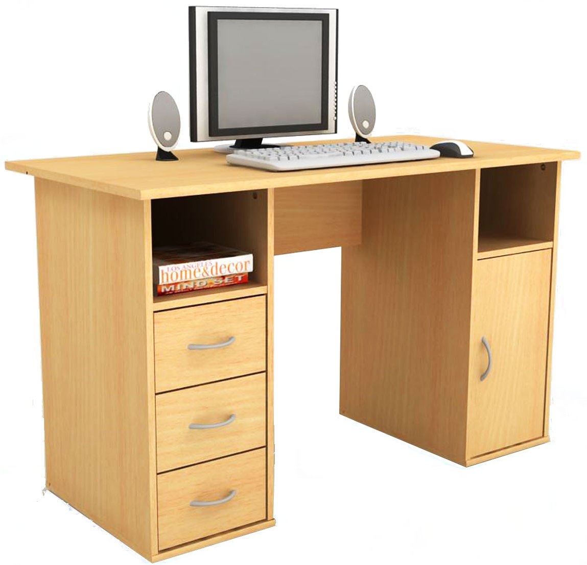 Elegant Small Desk With Hutch And Drawers